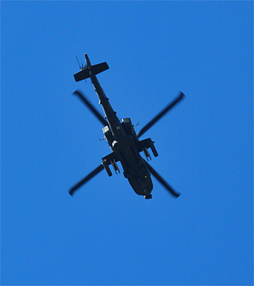 Apache, leaving the Museum's airspace.